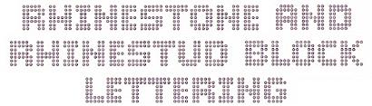 Rhinestone and rhinestud lettering
